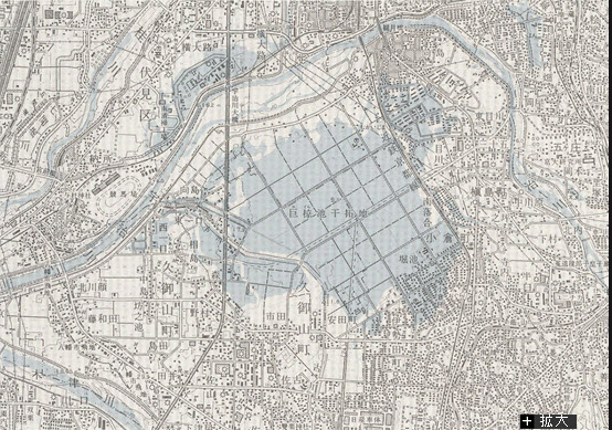 巨椋池の地図