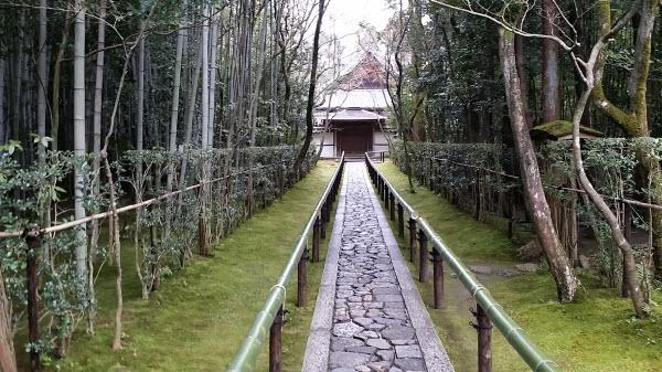 高桐院入口にある道は綺麗